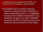 la aplicaci n de las obligaciones de opa a las tomas de control indirectas o sobrevenidas