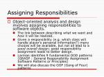 assigning responsibilities