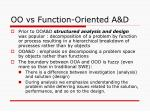 oo vs function oriented a d
