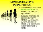 administrative inspections