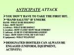 anticipate attack