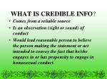what is credible info