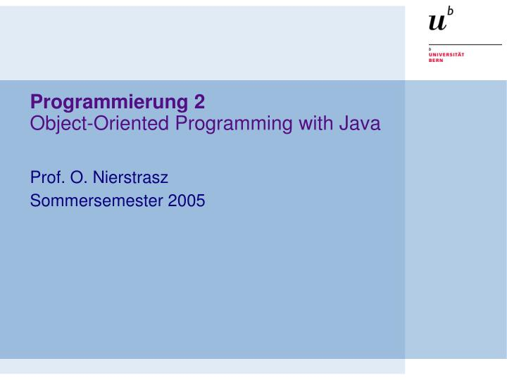 programmierung 2 object oriented programming with java n.