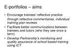 e portfolios aims