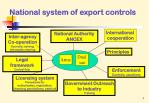 national system of export controls