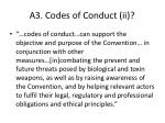 a3 codes of conduct ii