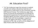 a4 education first