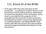 c11 article xii of the btwc