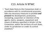 c13 article iv btwc