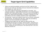 target agent grid capabilities