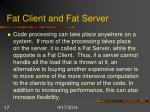fat client and fat server