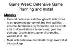game week defensive game planning and install2