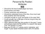 personnel by position attributes will