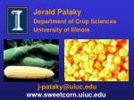 jerald pataky department of crop sciences university of illinois