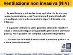ventilazione non invasiva niv