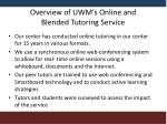 overview of uwm s online and blended tutoring service