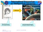 international symposium on multiparticle dynamics1
