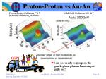 proton proton vs au au