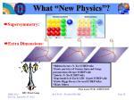 what new physics