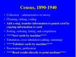 census 1890 1940