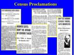 census proclamations
