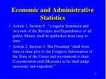 economic and administrative statistics