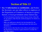 section of title 13