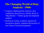 the changing world of data analysis 1960s1
