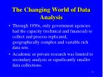 the changing world of data analysis