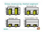 gross revenue by market segment