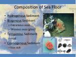 composition of sea floor