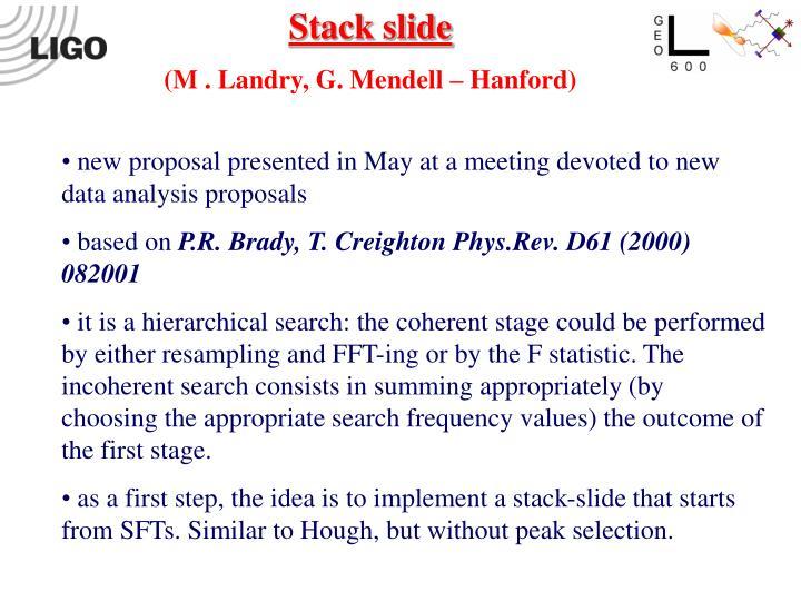 Stack slide