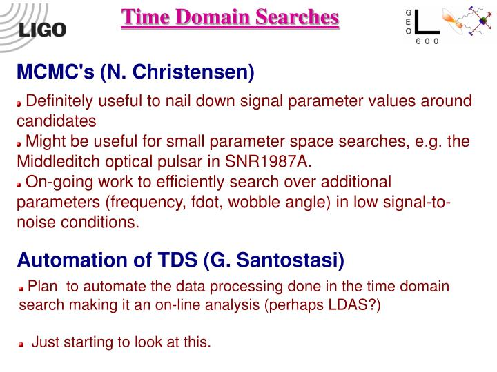 Time Domain Searches