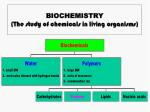 biochemistry the study of chemicals in living organisms