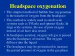 headspace oxygenation