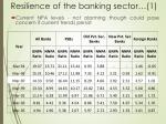 resilience of the banking sector 1