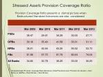 stressed assets provision coverage ratio