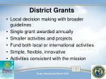 district grants