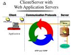 client server with web application servers