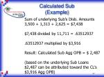 calculated sub example