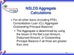 nslds aggregate calculations4