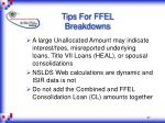 tips for ffel breakdowns