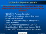 hadronic interaction models