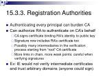 15 3 3 registration authorities