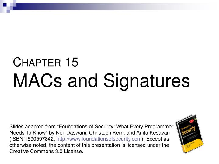 c hapter 15 macs and signatures n.