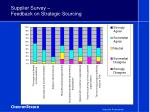 supplier survey feedback on strategic sourcing