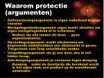 waarom protectie argumenten