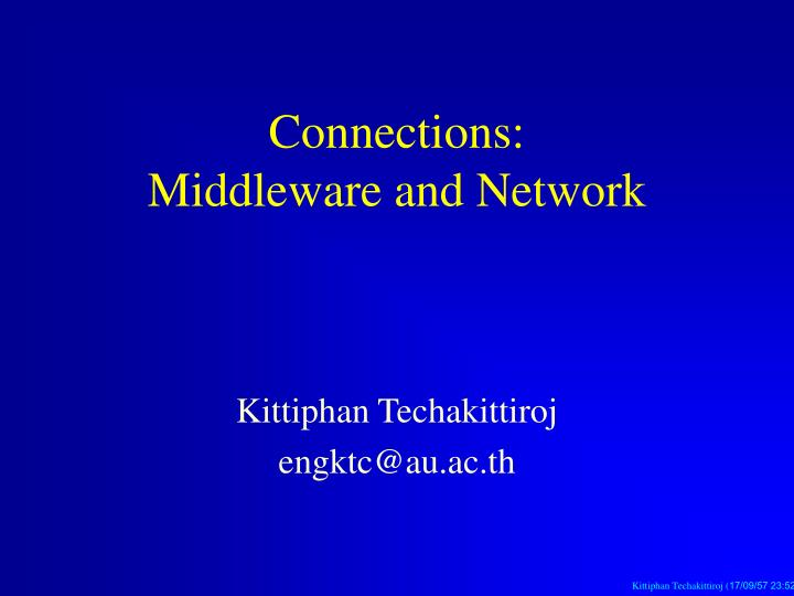 connections middleware and network n.