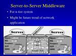 server to server middleware