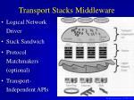 transport stacks middleware